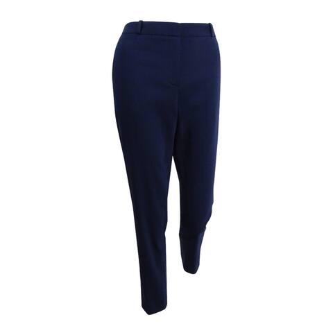 Tommy Hilfiger Women's Slim-Leg Ankle Pants (4, Midnight) - 4