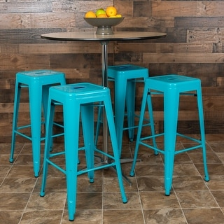 Metal Indoor Stackable 30-inch Bar Stool (Set of 4)