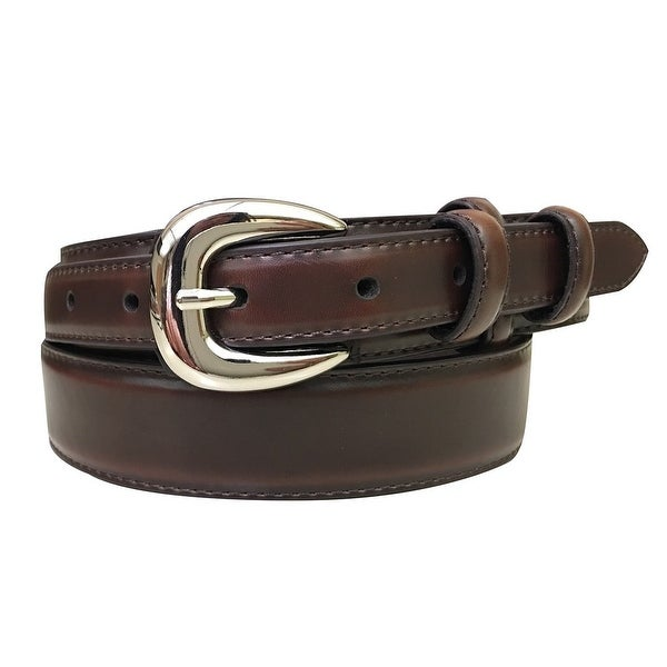 G-Bar-D Western Belt Mens Nickel Finish Leather Brown