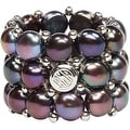 D'AMA 3 Strand Freshwater Cultured Pearl Womens Stretch Ring - Thumbnail 4