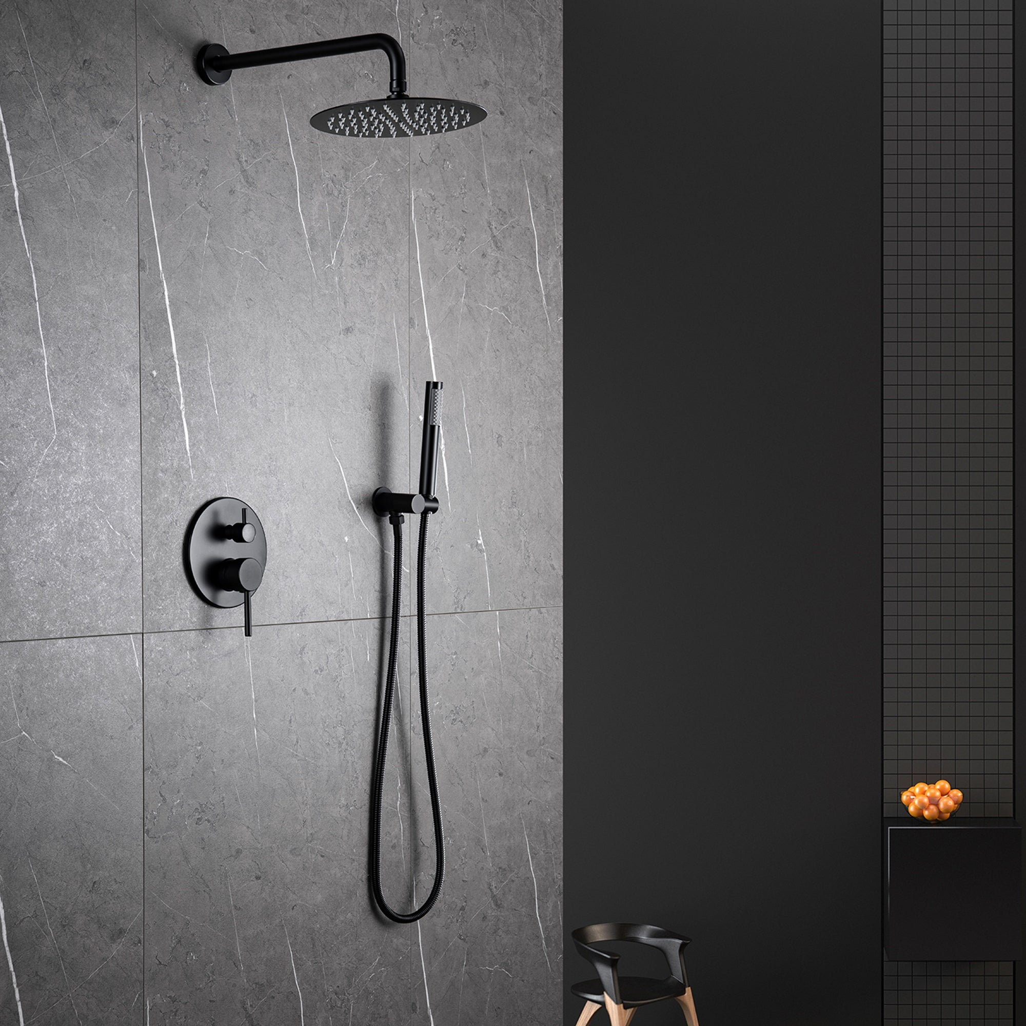 Luxury Pressure Balanced Complete Shower System With Rough In Valve Overstock 31646880