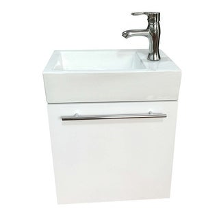 Small Wall Mount Bathroom Cabinet Vanity Square Vessel Sink Renovator's Supply