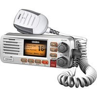 Uniden UM415 White Fixed Mount VHF Marine Radio w/ Backlit LCD Display & Keypad