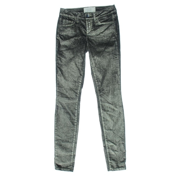 Rachel Rachel Roy Womens Icon Skinny Jeans Metallic Mid-Rise - 28