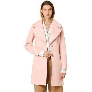 Women's Elegant Notched Lapel Button Single Breasted Winter Coat