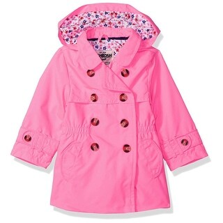 Osh Kosh Girls 2T-4T Double Breasted Trench Coat