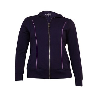 Style & Co. Women's Piped Hooded Knit Zip Track Jacket