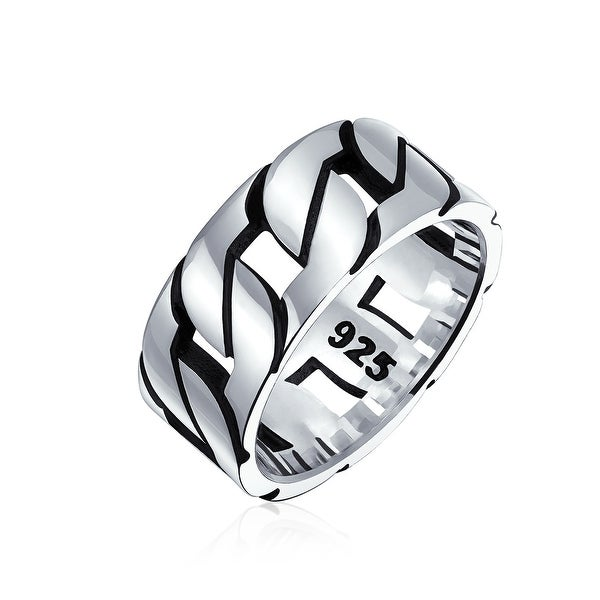 Sterling Silver Mens Ring Band Solid Rhodium Diamond Onyx Square Black Mens Ring