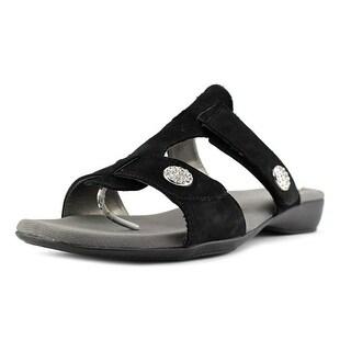 Ros Hommerson Marissa Women WW Open Toe Synthetic Black Slides Sandal
