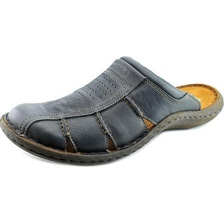 Josef Seibel Lawson Men Open Toe Leather Slides Sandal