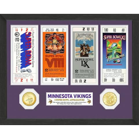 Minnesota Vikings Super Bowl Appearances Ticket Collection - 13x13