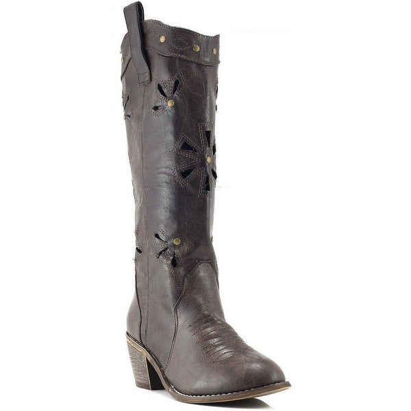 Nature Breeze Women Austin-06 Boots - brown brushed