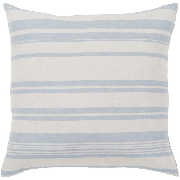 """Lawson Blue & White Striped Throw Pillow Cover (18"""" x 18""""). Opens flyout."""