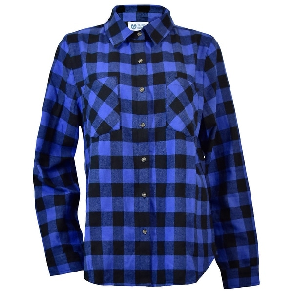 Victory Outfitters Ladies' Plaid Flannel Button Up Shirt. Opens flyout.