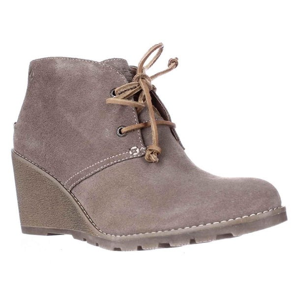 Sperry Top-Sider Stella Prow Wedge Ankle Booties, Taupe