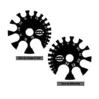 Black Acrylic Gauge Measurment Wheel (Sold Individually)