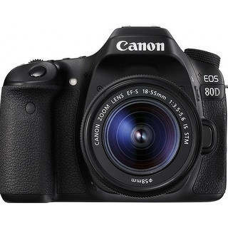 CANON EOS 80D 1263C005 24.2 Megapixel Digital SLR Camera - 3x (Refurbished)