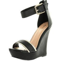 Eye Candie Womens Citygal-503 Fashion Wedge Sandals