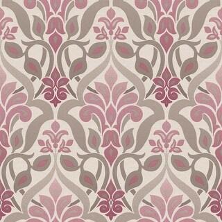 Brewster 2535-20645 Fusion Purple Ombre Damask Wallpaper