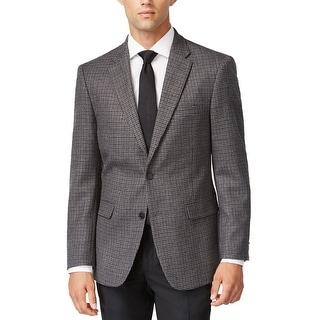 Tommy Hilfiger Ethan Dark Gray Wool Houndstooth Sportcoat Blazer 40 Long 40L