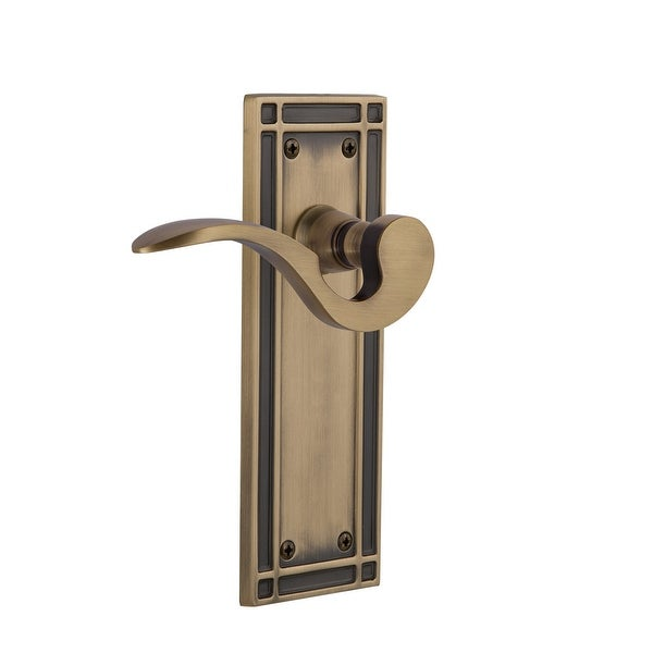 Nostalgic Warehouse MISMAN_SD_NK_RH Manor Non-Turning One-Sided Door Lever with Mission Rose