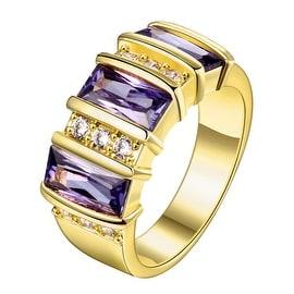 Purple Gemstone Gold Classical Ring