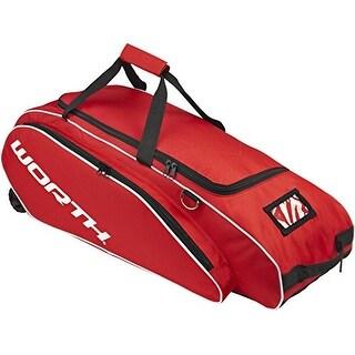 Worth Sports Tournament Baseball/Softball Wheeled Equipment Bag (Scarlet Red)