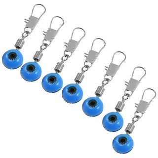 Unique Bargains 7 Pcs 1mm Diameter Eye Interlocking Fishing Crane Swivel Blue Black