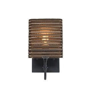 "Besa Lighting 1WG-KIRK6-LED Kirk Single Light 11"" Tall LED Wall Sconce with Corr"