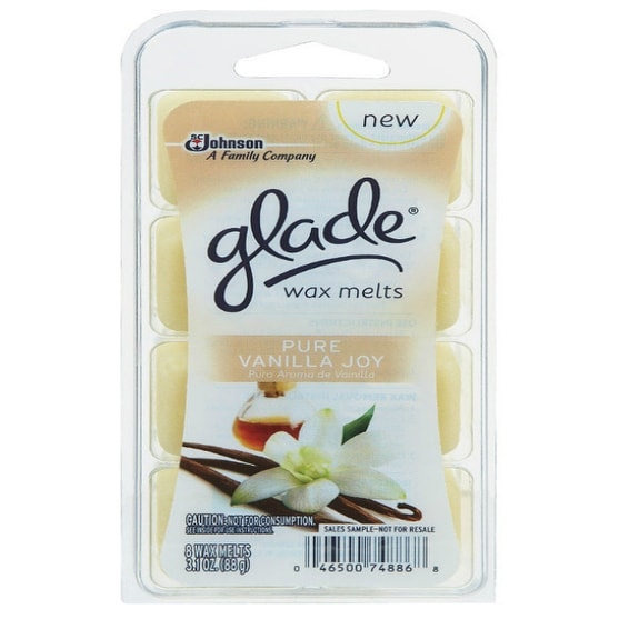 Glade 75768 Air Freshener Wax Melts, Pure Vanilla Joy