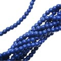 Dyed Magnesite Gemstone Beads, Round 4mm, 15.5 Inch Strand, Lapis Blue - Thumbnail 0
