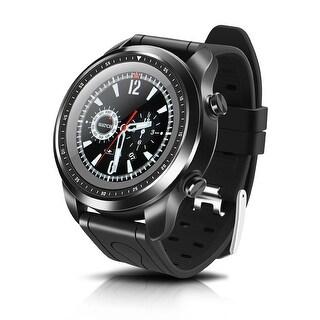 AGPtek 4G Smart Watch Android 6.0 w/ SIM Card GPS WiFi 1GB + 16GB Sport Wearable Fitness Tracker Devices, Black (2018)