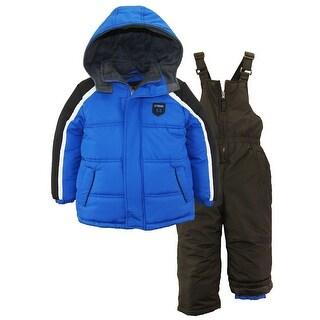 iXtreme Boys Colorblock Expedition Snowsuit Puffer Winter Jacket Ski Bib