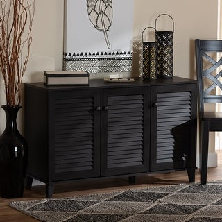 Link to Porch & Den Espresso Wood 3-door Cabinet Similar Items in Bookshelves & Bookcases