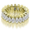 4.50 cttw. 14K Yellow Gold Marquise Diamond Eternity Ring - Thumbnail 0