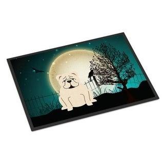 Carolines Treasures BB2313JMAT Halloween Scary English Bulldog White Indoor or Outdoor Mat 24 x 0.25 x 36 in.