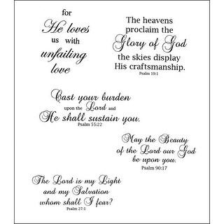 "Heartfelt Creations Cling Rubber Stamp Set 5""X6.5""-Uplifting Scriptures"