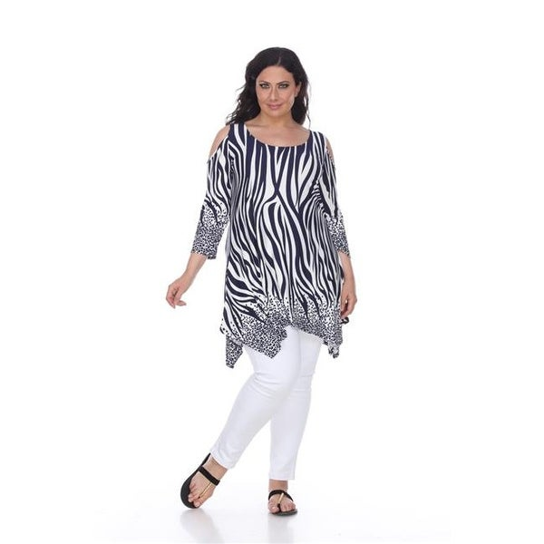 db4a2d56f3c Shop PS1305-02-1XL Womens Plus Size Antonia Cut-Out Shoulder Tunic - Free  Shipping On Orders Over  45 - Overstock.com - 22958935