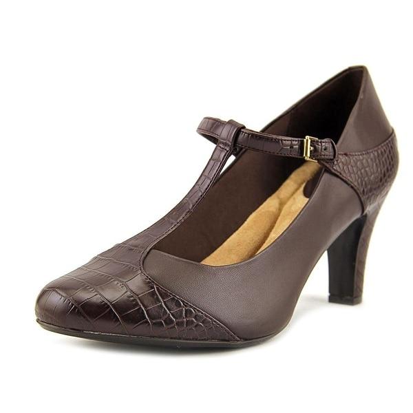 Giani Bernini Womens Vineza Leather Cap Toe Ankle Strap Classic Pumps