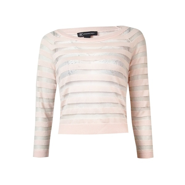 INC International Concepts Women's Sheer Striped Sweater. Opens flyout.
