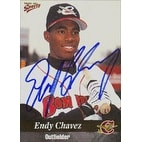 Endy Chavez Capital City Bombers  Mets Affilitate 1999 MultiAd Sports Autographed Card  Minor Leagu