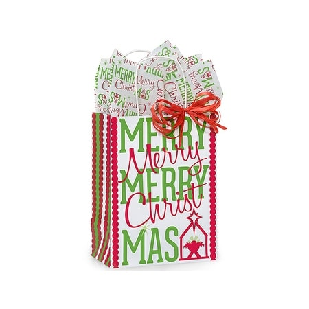 """Pack of 250, Cub Merry Christmas Manger 8.25 x 4.75 x 10.5"""" For Christmas Packaging, 100% Recyclable,"""