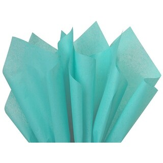 """Pack Of 480, Solid Caribbean Teal Tissue Paper 20 x 26"""" Sheet Half Ream"""