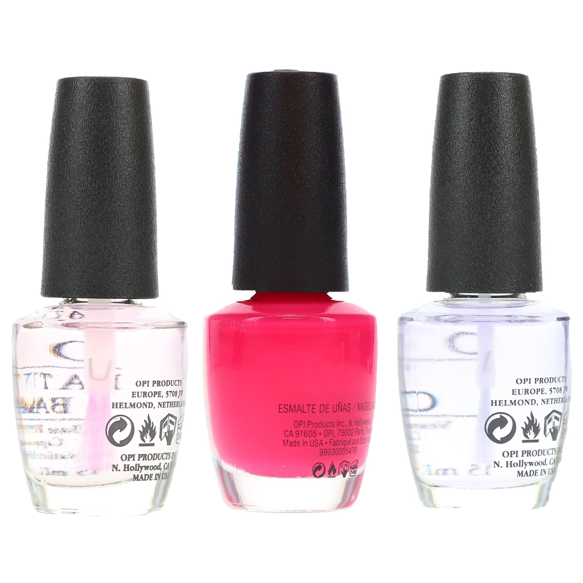 Opi Strawberry Margarita 5 Oz Top Coat 5 Oz Natural Nail Base Coat 5 Oz Combo Pack Overstock 31796491