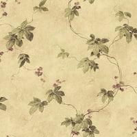 Brewster MEA79024 Trebah Sage Virginia Creeper Trail Wallpaper - sage virginia creeper - N/A
