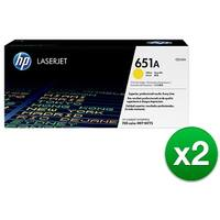 HP 651A Yellow Original LaserJet Toner Cartridge For US Government (CE342AG)(2-Pack)