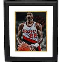 Signed Clyde Drexler signed Portland Trail Blazers 16x20 Photo Custom Framed HOF 04 foul shot spotl