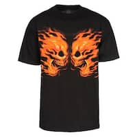 Men's Flame Skulls Short-Sleeve T-Shirt, Black