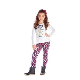 Girls Outfit Long Sleeve T-Shirt and Leggings Set Winter Pulla Bulla 2-10 Years