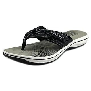 Clarks Brinkley Athol Women Open Toe Synthetic Black Flip Flop Sandal